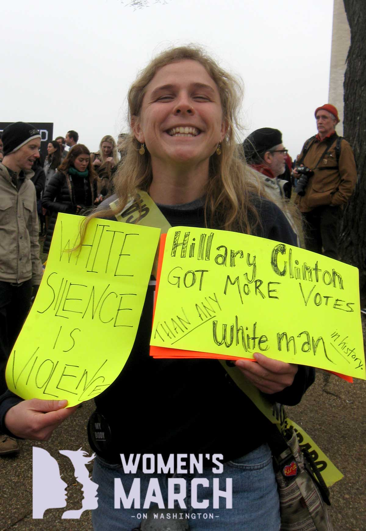 """Hillary Clinton got more votes than any white man in history."" ""White silence is violence."""
