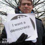"""""""I want a democracy."""""""