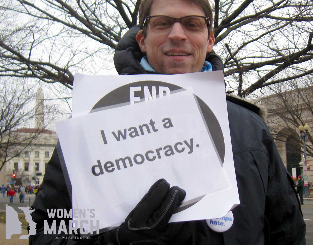 """I want a democracy."""