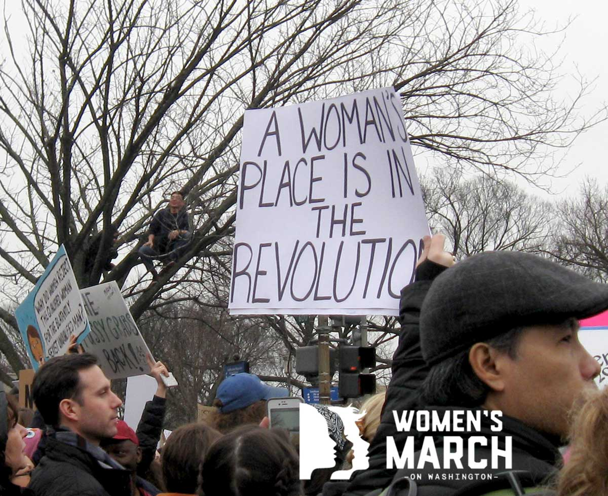 """""""A woman's place is in the revolution."""""""