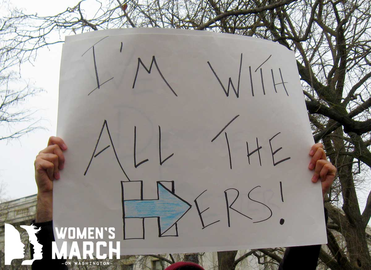 """I'm with all the Hers!"""