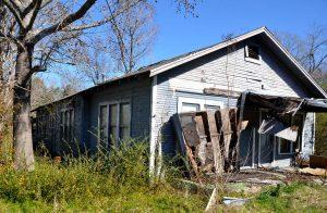 Long, narrow double-shotgun house