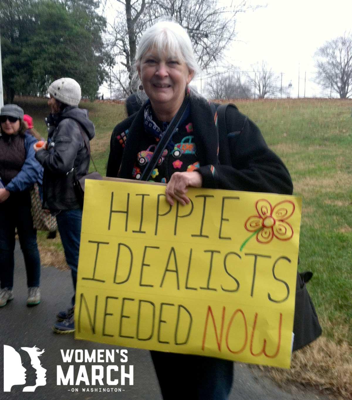 """Hippie idealists needed now."""