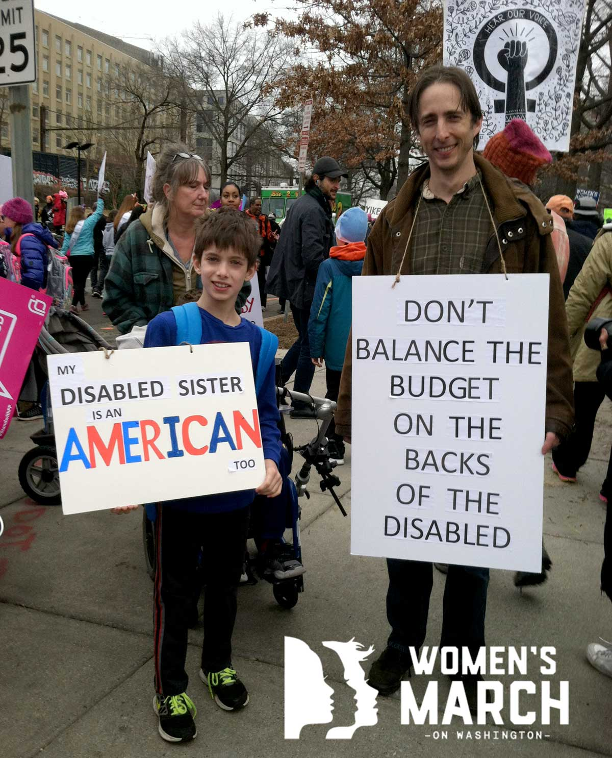 """My disabled sister is AMERICAN"""
