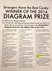 Full list of Diagram Prize winners