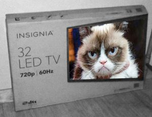 TV box with grumpycat